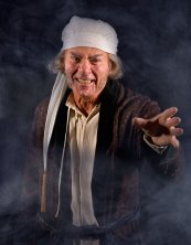 """Actor playing Scrooge in """"A Christmas Carol"""" publicity photo 12/2/08"""