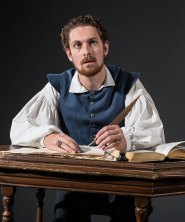 """Actor playing Will Shagspeare in """"Equivocation"""" publicity photo 4/25/14"""