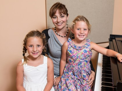 Piano Teacher with Students 10/3/13 Claeyssens Hall