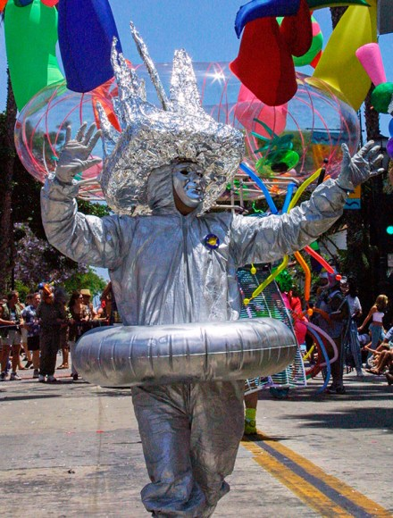 Foil Man in Summer Solstice Parade 6/2001Santa Barbara, CA