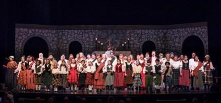 The big cast of Santa Barbara Revels Winter Solstice Celebration 12/16/16 The Lobero Theatre