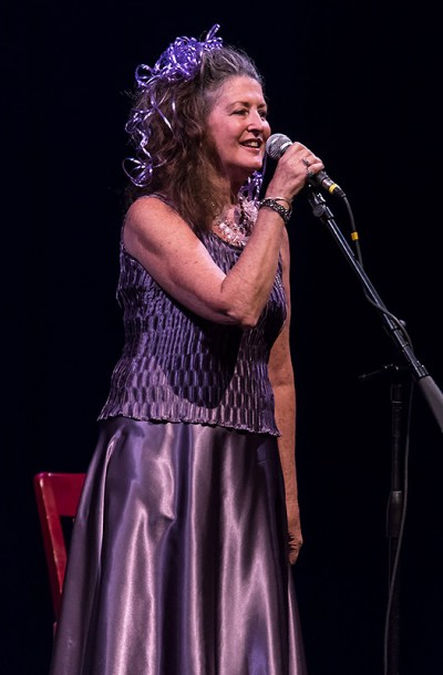 """Sings Like Hell"" creator Peggie Jones 12/4/16 Lobero Theatre"