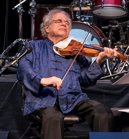 """Itzhak Perlman really feels this music! """"In the Fiddler's House"""" 20th Anniversary concert- UCSB Arts & Lectures 1/23/17 The GranadaTheatre"""