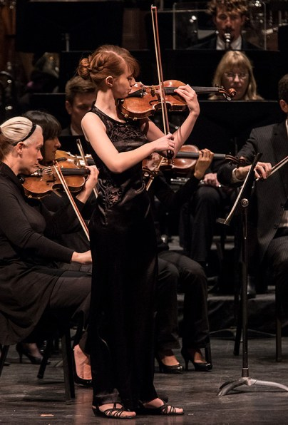 17-year-old local resident violinist Holly Radford - SBSO Concert for Young People 1/27/17 the Granada Theatre