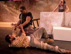 "Elijah Rock (Porgy) and K.B. Soloman (Crown) Elijah Rock (Porgy), Peggy Blow (Mariah) , K.B. Soloman (Crown) and Karole Foreman (Bess) in Ensemble Theatre Company's ""Porgy and Bess"" 2/8/17 the New Vic Theatre"