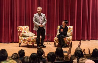George Takei and Lisa Sun-Hee Park, UCSB Chair and Professor, Asian American Studies - UCSB Arts & Lectures and the UCSB MutiCultural Center 2/15/17