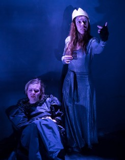 """Paige Tautz and Marie Ponce - Lit Moon Theatre Company's """"Richard III"""" 3/7/17 Westmont College Black Box Theater"""