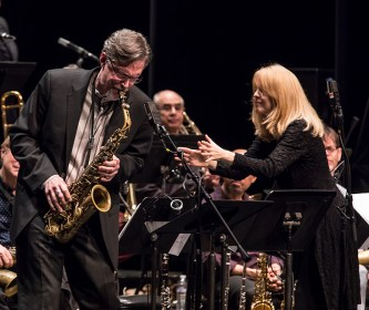David Pietro solos with the Maria Schneider Orchestra at the Lobero Theatre 2/20/17