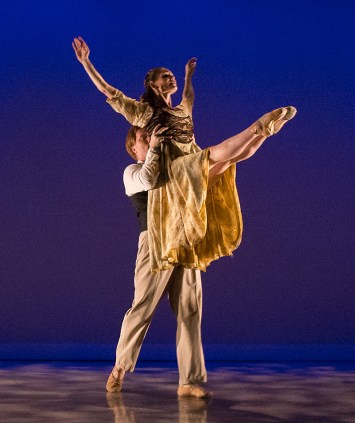 "John Piel and Meredith Harrill in William Soleau's ""Sonnets of Love & Death"" - State Street ballet 5/12/17 The New Vic Theatre"