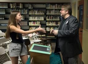 Author Luis Alberto Urrea and Santa Barbara High School student fan - UCSB Arts & Lectures 4/24/17