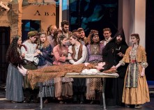 """The wedding - UCSB Theater and Dance Dept. production of Bertold Brecht's """"The Caucasian Chalk Circle"""" 5/24/17 UCSB Hatlen Theater"""