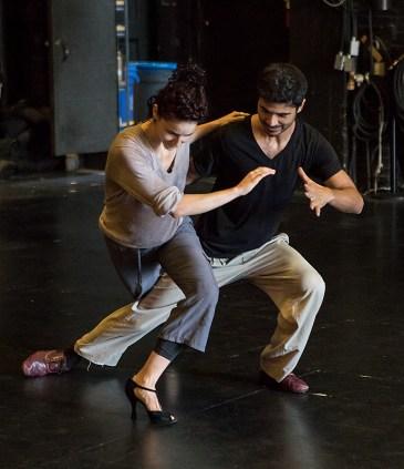 Daniel del Valle Escobar & Nicole Vaughan-Diaz rehearsing for Danceworks Santa Barbara 2017 8/11/17 The Lobero Theatre