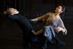 "Thryn Saxon & Nicole Vaughan-Diaz working on ""Sin Salida/In Love I Broke Beyond"" 8/11/17 The Lobero Theatre"