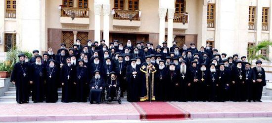 The first picture of the Holy Synod with His Holiness Pope Tawadros