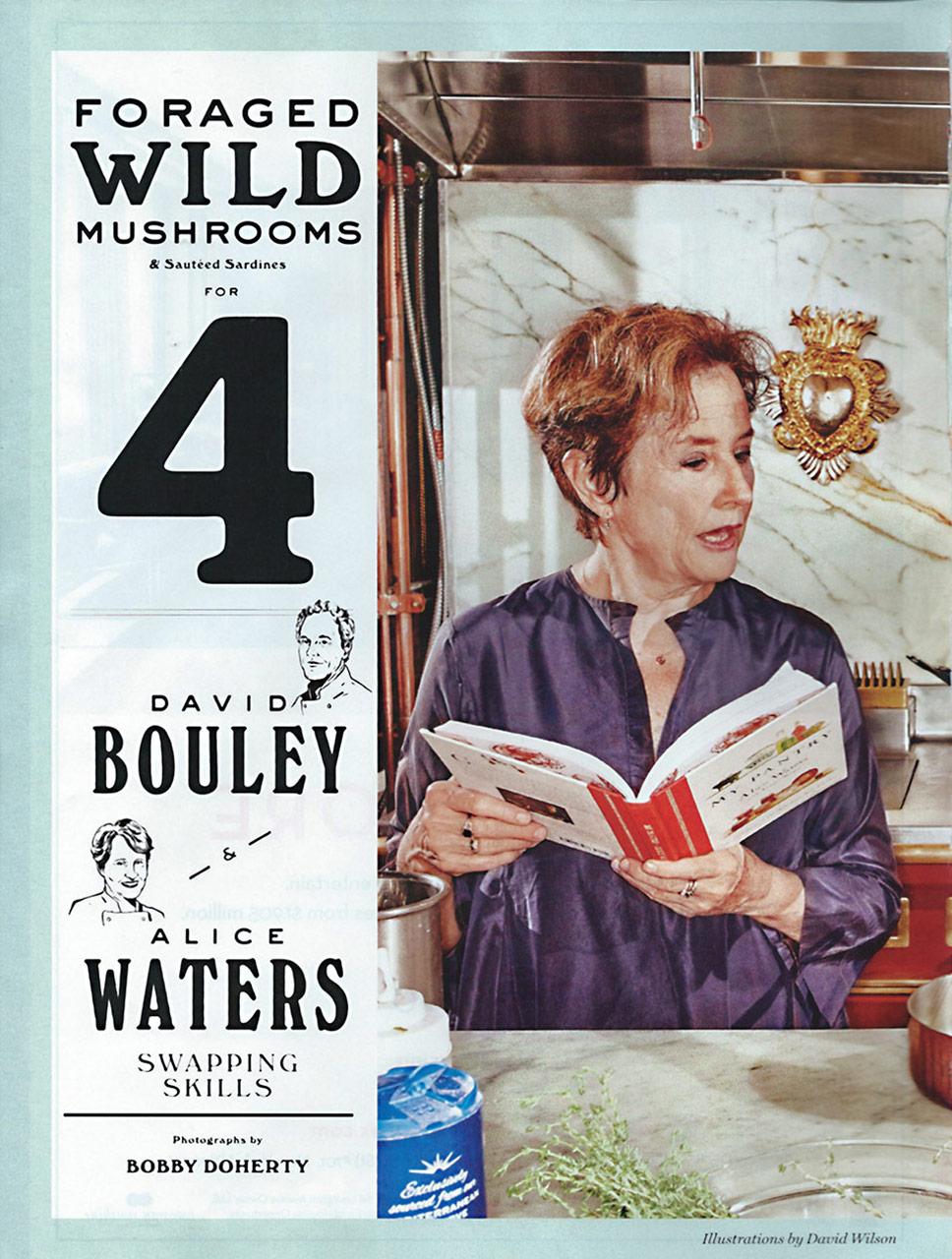 David Bouley and Alice Waters - NY Mag 2015