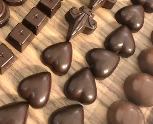 bespoke Valentine's Day chocolates by Sarah Bouley