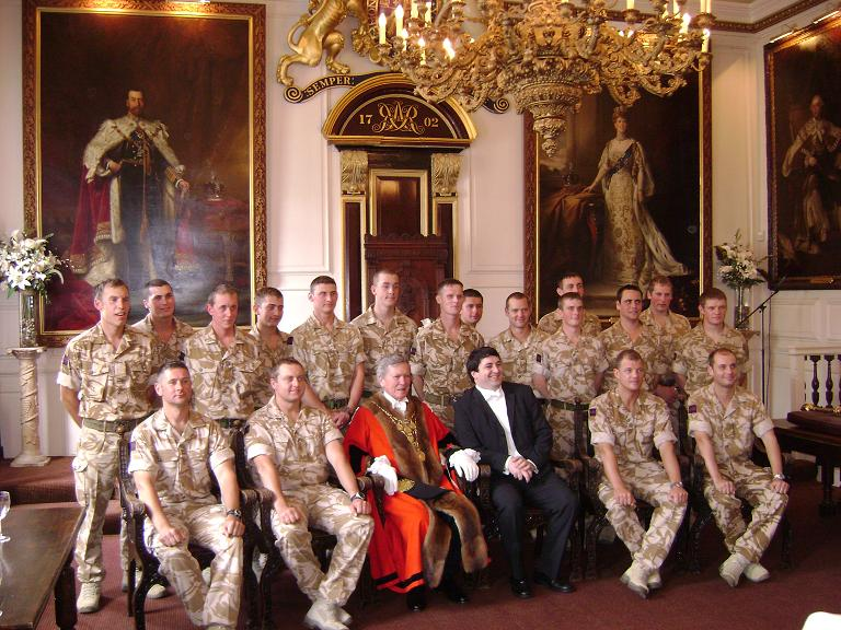At Windsor Guildhall with Cllr Leo Walters and the Coldstream Guards