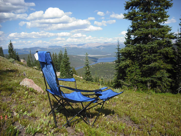 My camping perch above Turquoise Lake and Leadville, Colorado.