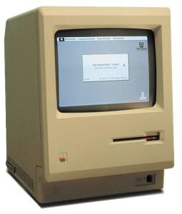 A Macintosh computer.