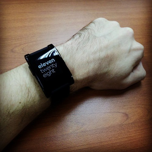 My Pebble smartwatch.