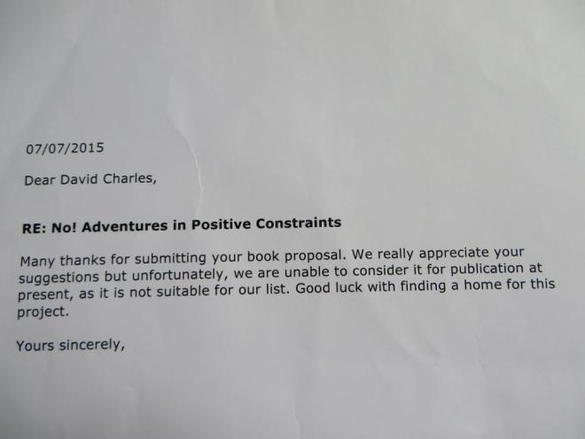 Rejection Letter £1.11