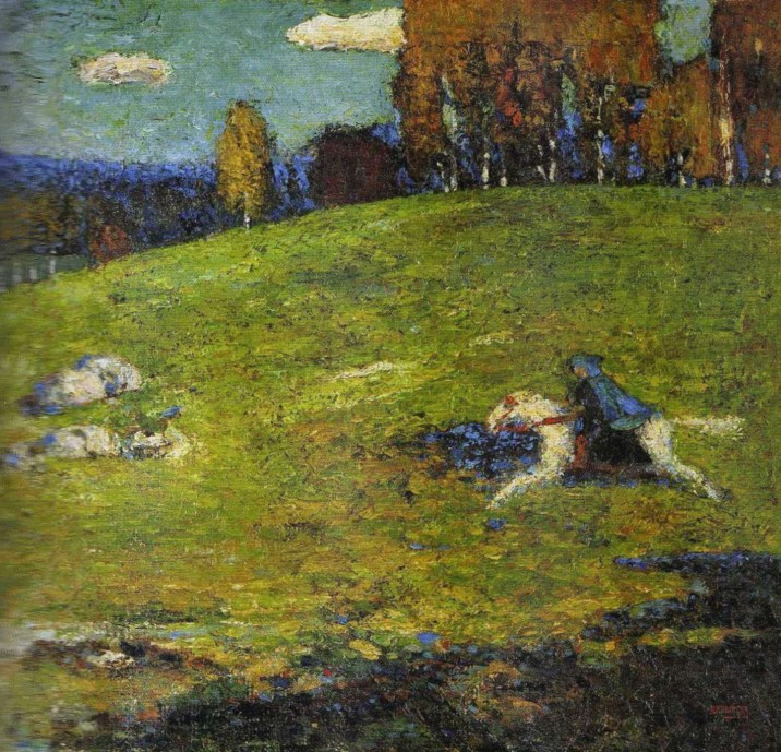 the blue rider by wassily kandinsky