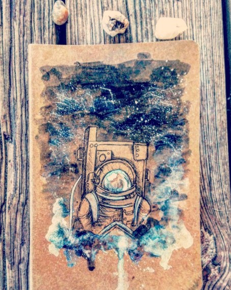 astronaut sketchbook