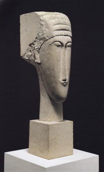 modigliani sculpture limestone head