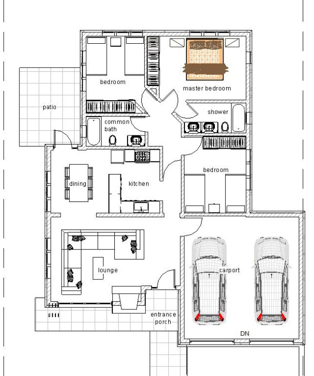 3 Bedroomed House Plans In Kenya Memsaheb Net