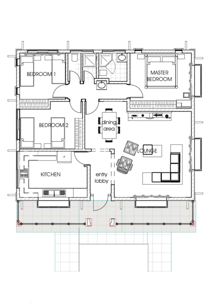 House Plans: A Concise 3 Bedroom Bungalow