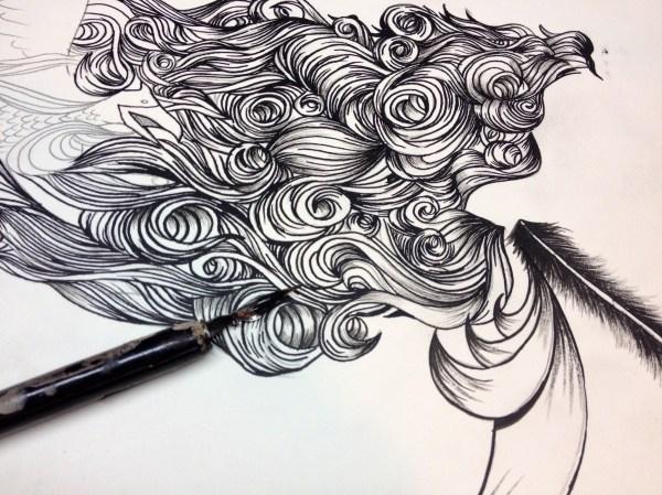 Cool Flowing Hair Drawings