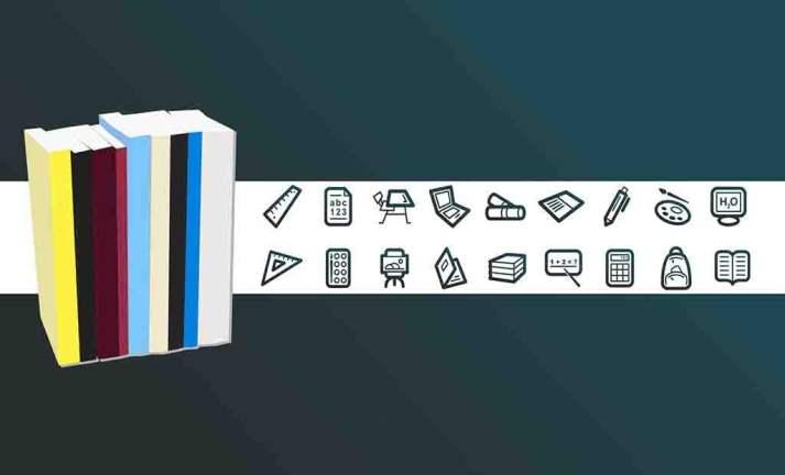 Pacote com diversos ícones tema educação 2021