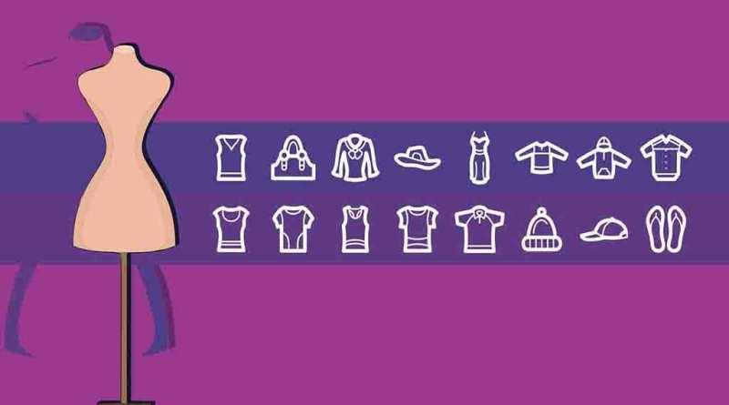 Pacote com diversos ícones com tema Moda 2021