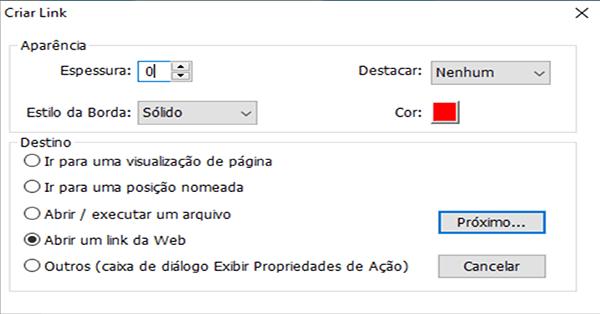 FoxitReader configurando link