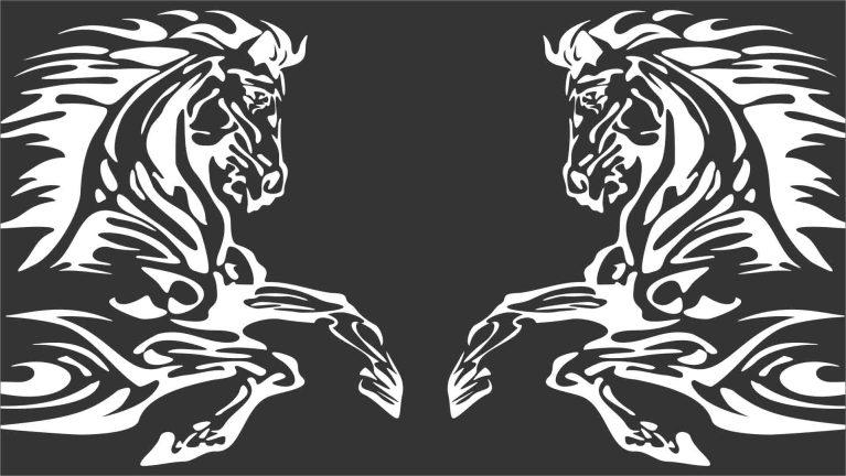 Vetores Animais Tribal Fogo, AI, CDR e EPS