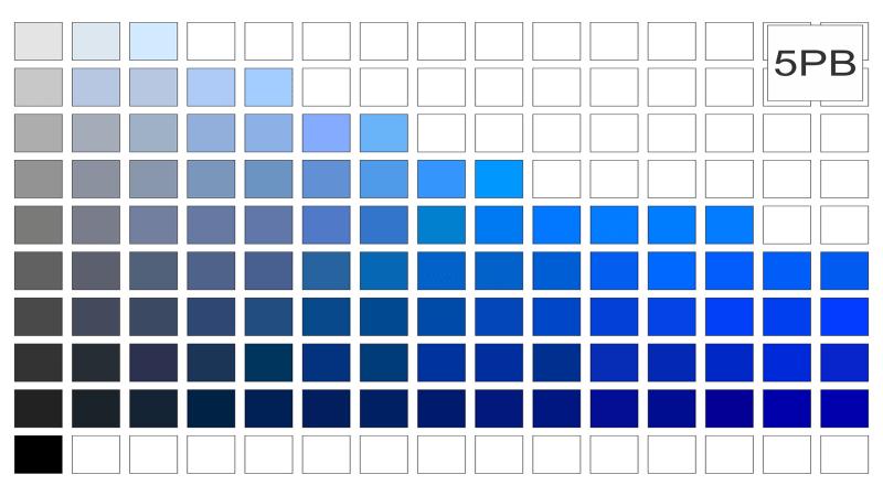 Escala de cor 5pb