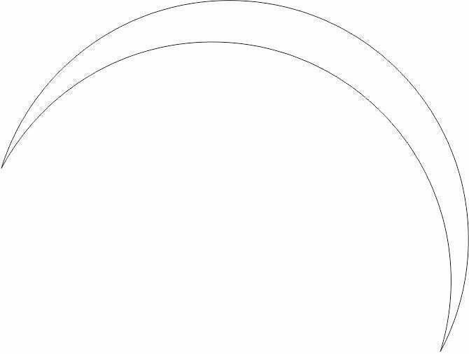 CorelDRAW Reflexo meia lua bolha de sabão