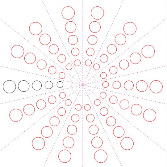 Mandala círculos ajustando