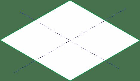 Quadrado isométrico traçado
