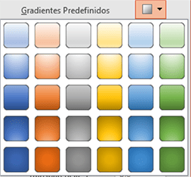 Gradientes Pré-definido Radial Tipo 2