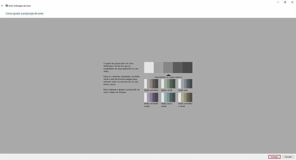Como ajustar proporções de cores