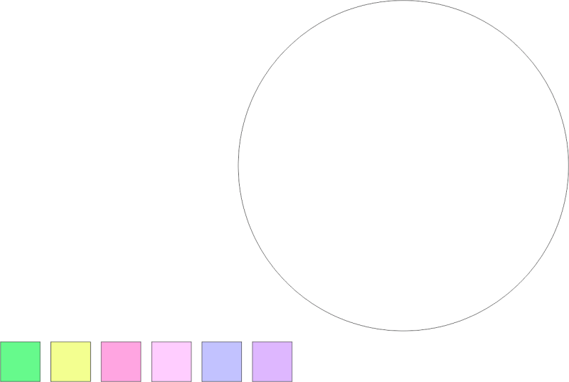 CorelDRAW Elipse amostra de cores bolha de sabão