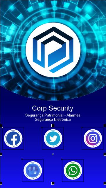 CorelDRAW Cartão digital aplicando textos