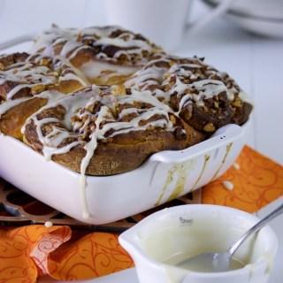 Sweet Potato Walnut Cinnamon Rolls
