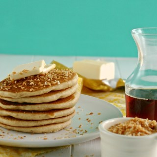 Toasted Coconut Blender Pancakes