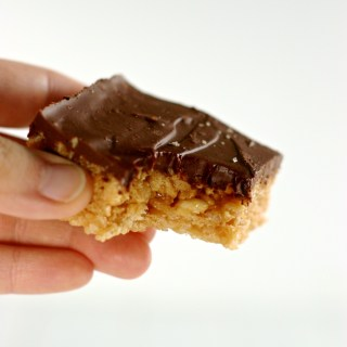 Chocolate Peanut Butter Rice Squares