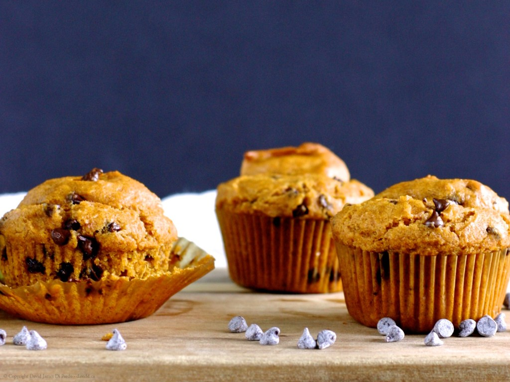 Gluten-Free Vegan and Refined Sugar-Free Pumpkin Chocolate Chip Muffins
