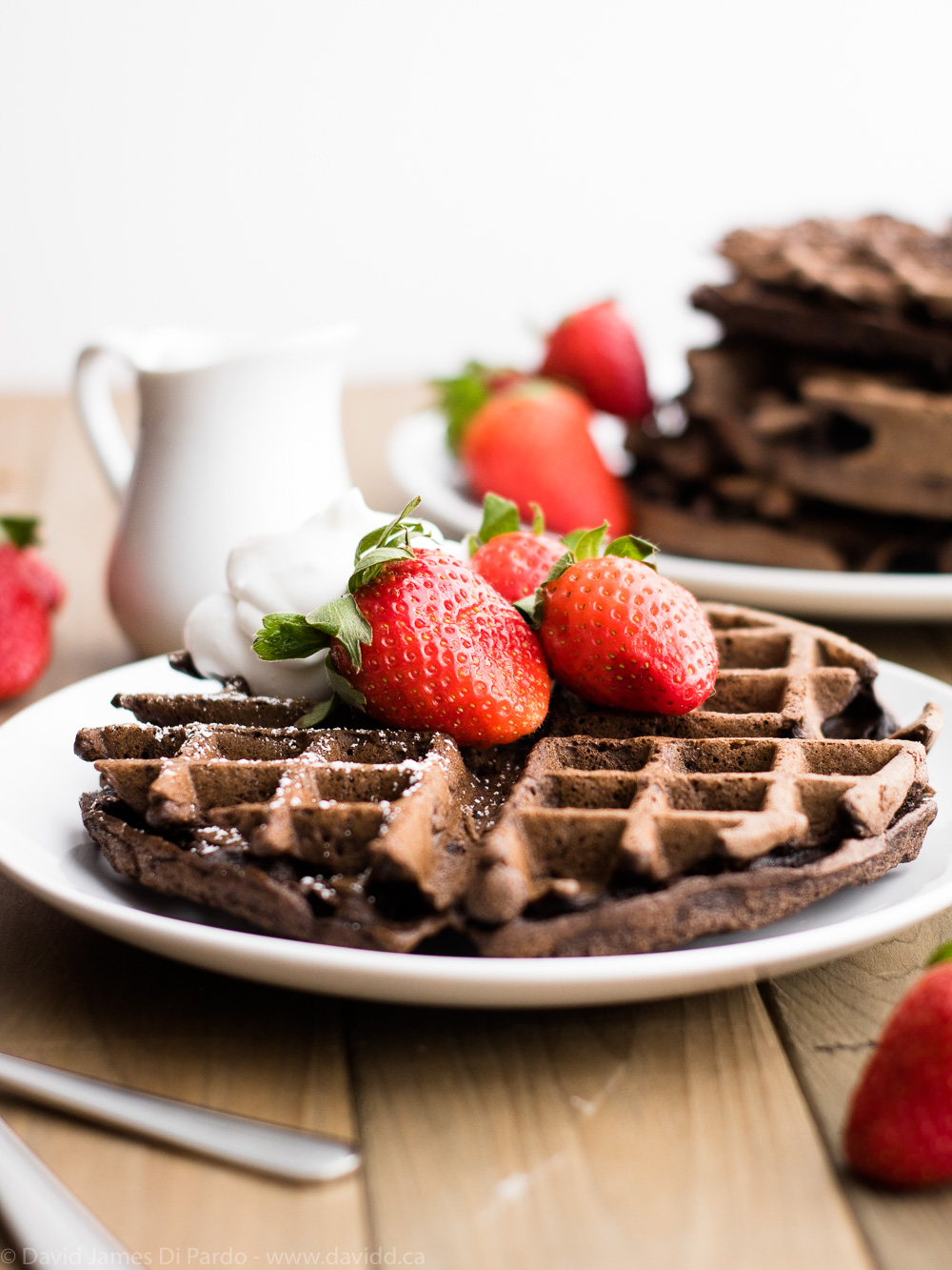Double Chocolate Vegan Waffles