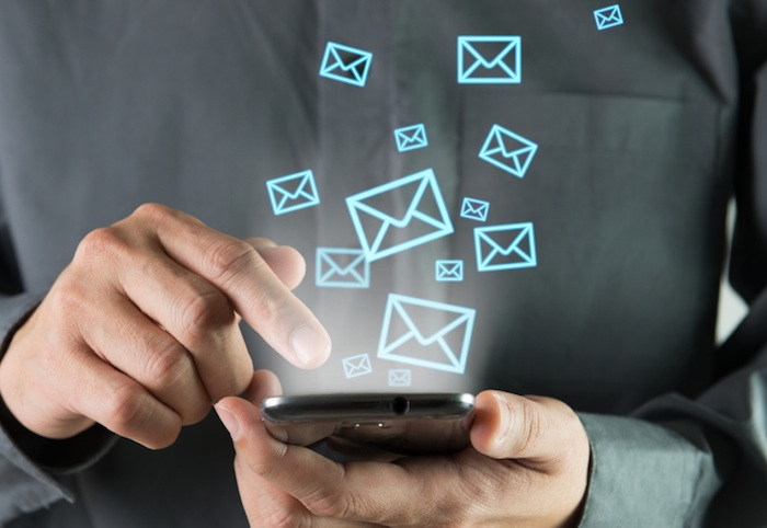 Emailing from a mobile phone