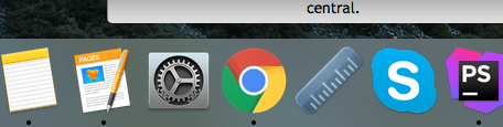 Taskbar in OSX El Capitan